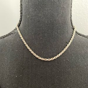 Jewelry - Sterling Silver 925 made in Italy rope necklace.